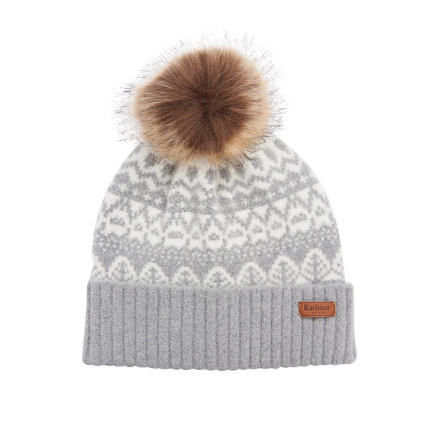 Barbour Ladies Alpine Fairisle Pom Beanie