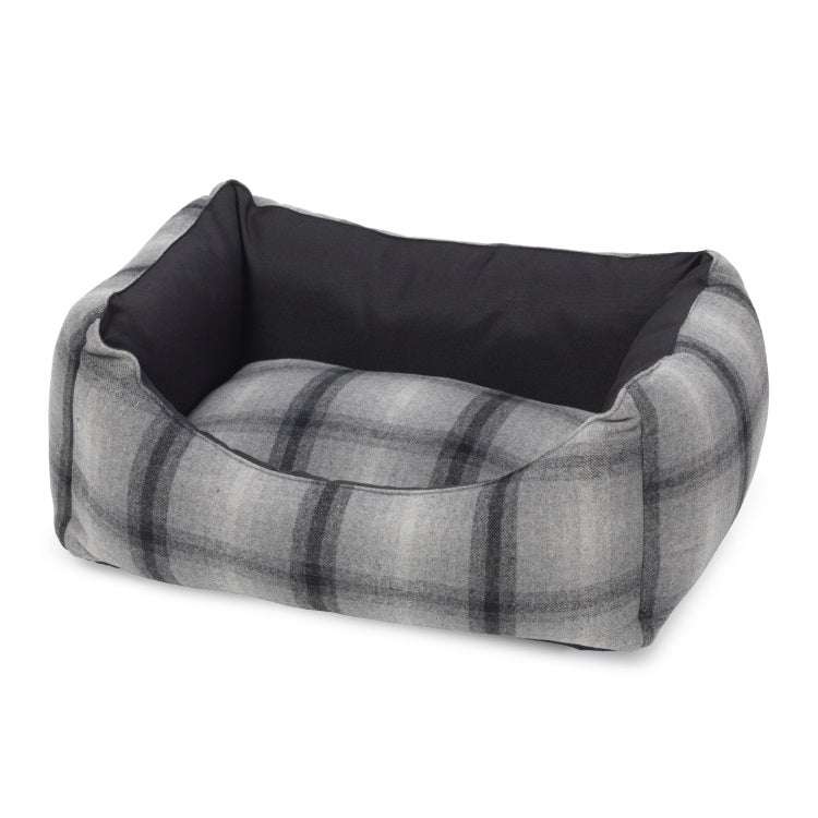 House of Paws Grey Tweed Waterproof Square Bed