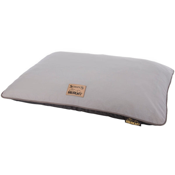 Scruffs Bolster Memory Foam Pillow - Grey