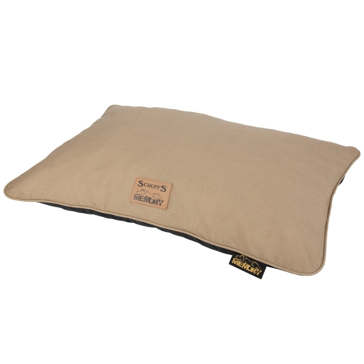 Scruffs Bolster Memory Foam Pillow - Tan