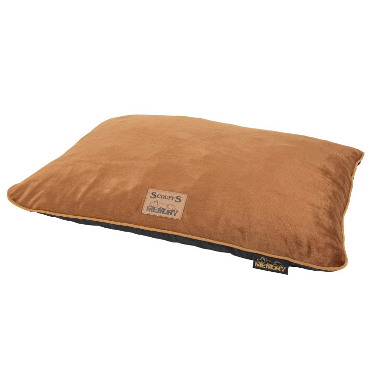 Scruffs Bolster Orthopaedic Pillow Bed - Plush Brown
