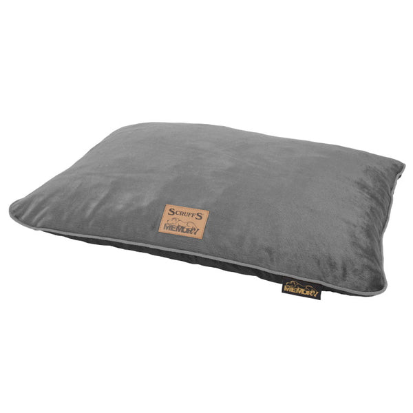 Scruffs Bolster Orthopaedic Pillow Bed - Plush Grey