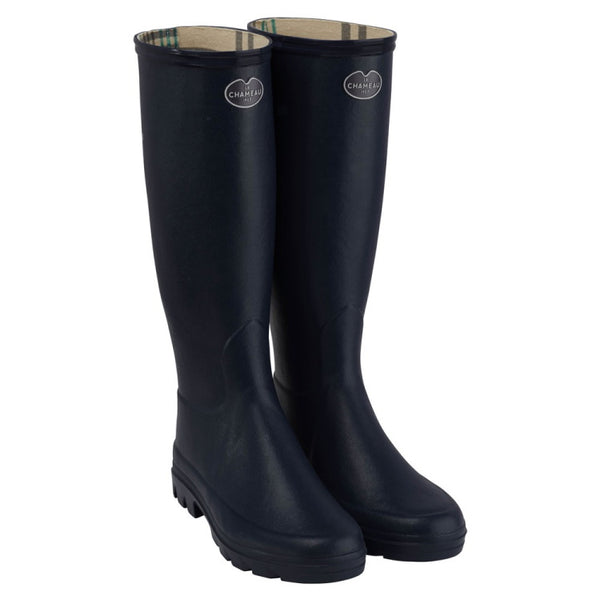 Le Chameau Ladies Iris Jersey Lined Wellington Boot - Black
