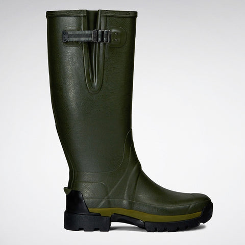 Hunter Balmoral II Side Adjustable 3mm Neoprene Boots - Dark Olive