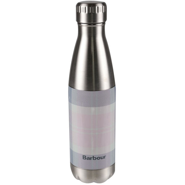 Barbour Tartan Water Bottle Stainless Steel - Pink/Grey