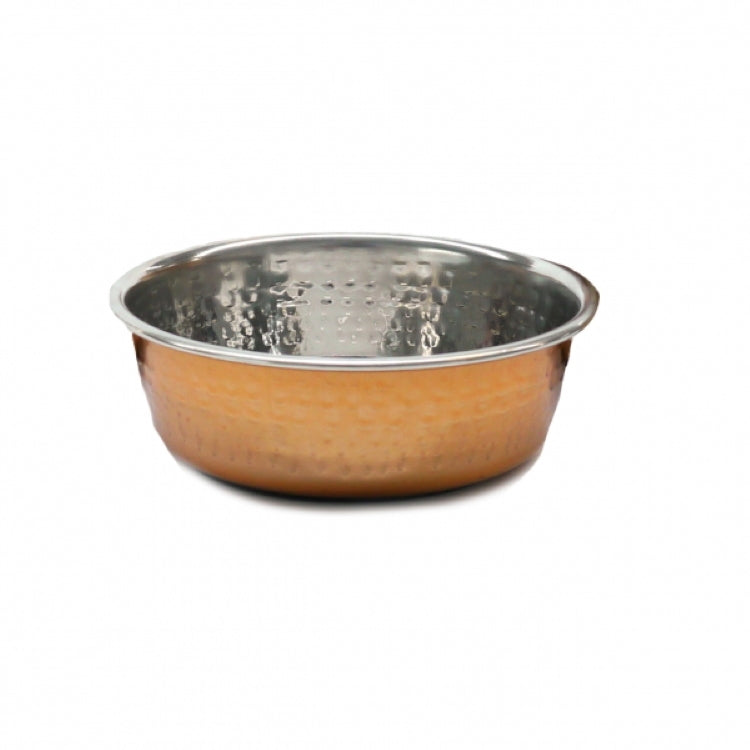 Rosewood Hammered Copper Pet Bowl