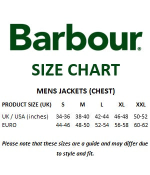Barbour Size Chart