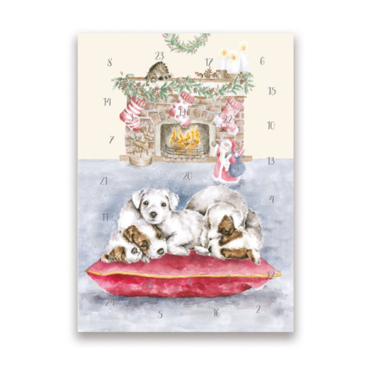 Wrendale Designs A5 Advent Calendar Card - All I Want For Christmas