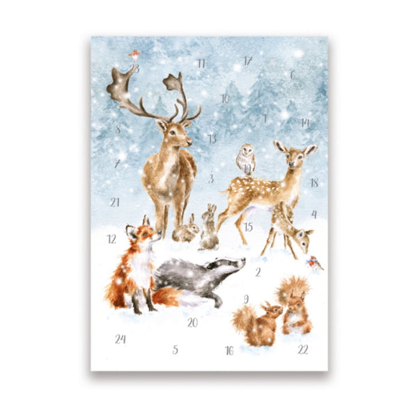 Wrendale Designs A5 Advent Calendar Card - A Winter Wonderland