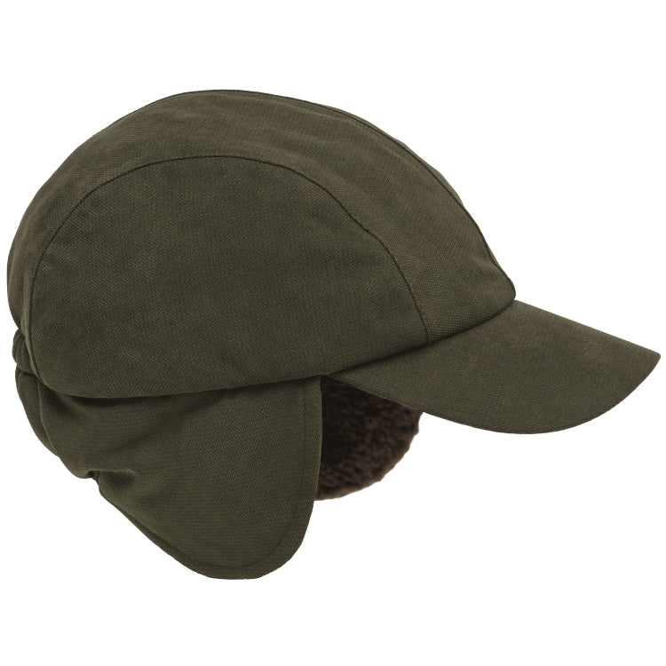 Hoggs of Fife Kincraig Winter Hunting Cap - Olive Green