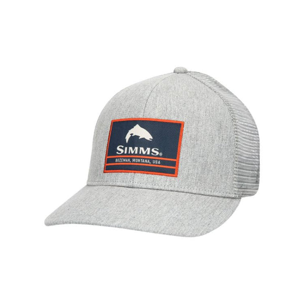 Simms Original Patch Trucker Cap - Heather Grey