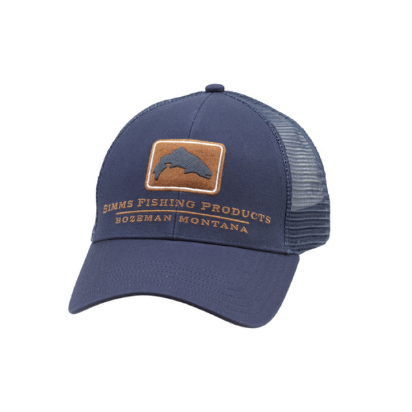 Simms Trout Icon Trucker Cap - Ink Blue