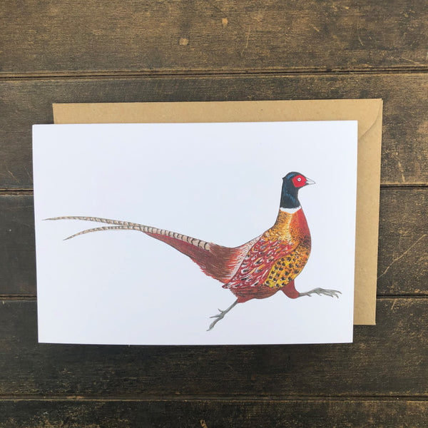 Rosie Dutson Game Bird Greeting Cards - Pheasant Cock