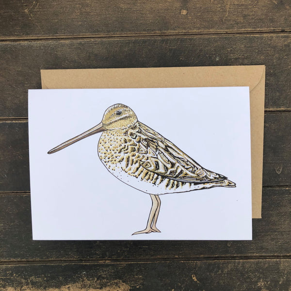 Rosie Dutson Game Bird Greeting Cards - Snipe