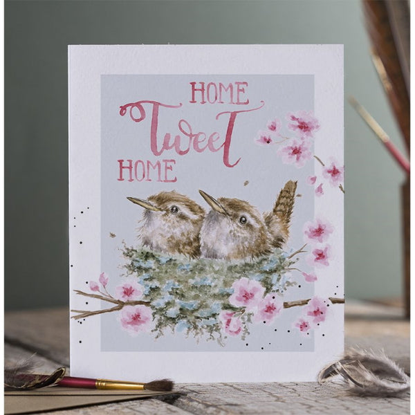 Wrendale Designs Celebration Card - Home Tweet Home