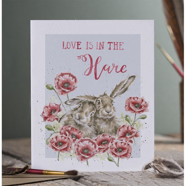 Wrendale Designs Celebration Card - Love is in the Hare