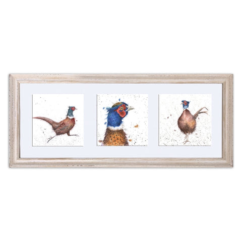 Wrendale Designs Framed Trio of Pheasants