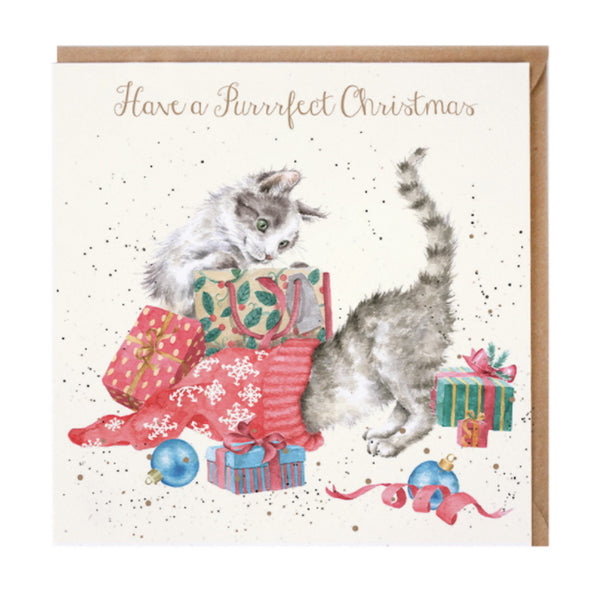 Wrendale Designs A Purrrfect Christmas Christmas Card