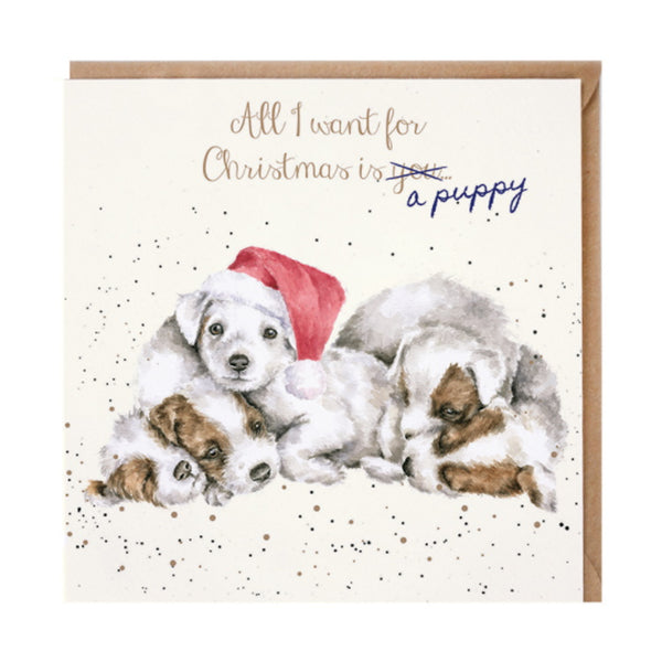 Wrendale Designs A Puppy... Christmas Card