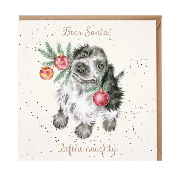 Wrendale Designs Dear Santa... Define Naughty Christmas Card