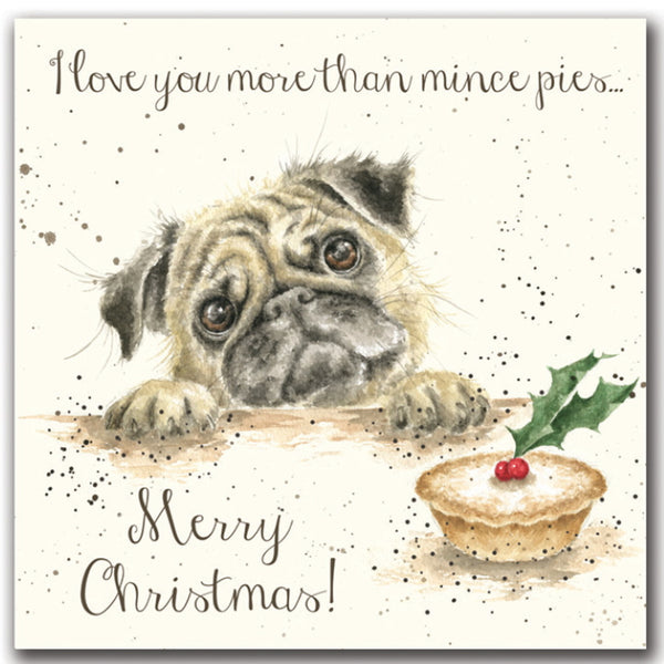 Wrendale Designs Christmas Card Relations - Mince Pies