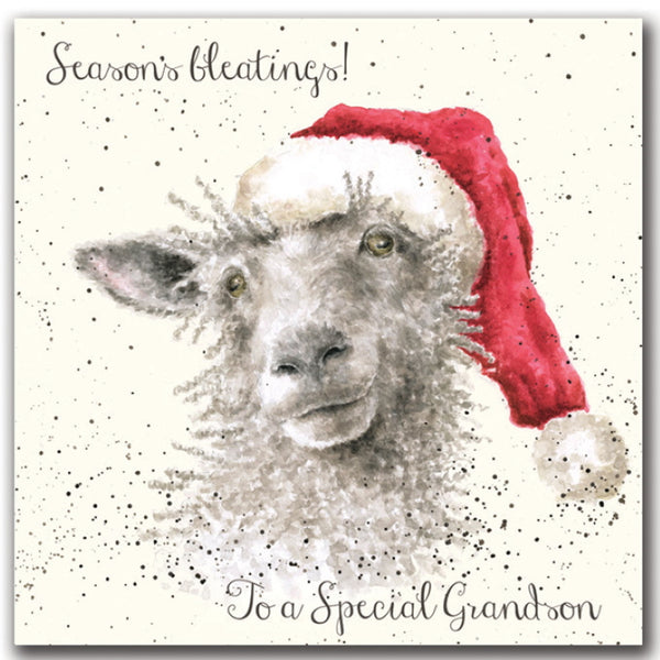 Wrendale Designs Christmas Card Relations - Seasons Bleatings