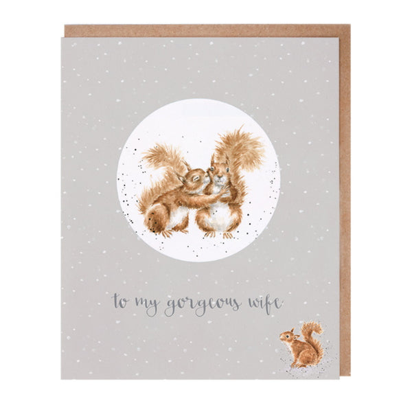 Wrendale Designs Relation Decoration Christmas Card - Gorgeous Wife