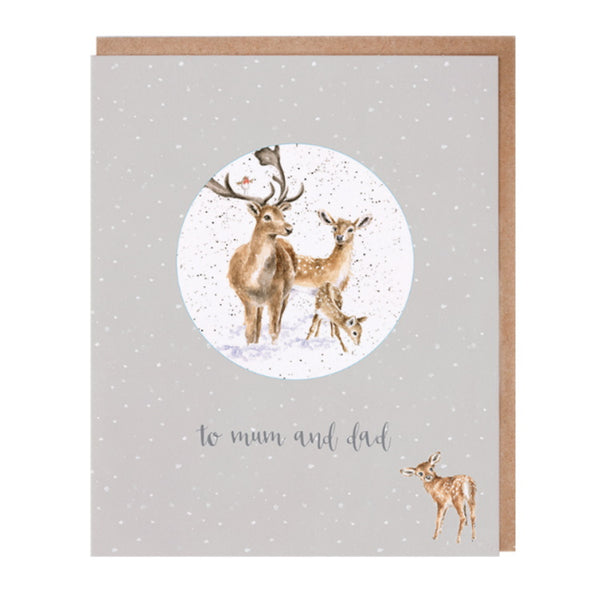 Wrendale Designs Relation Decoration Christmas Card - Mum And Dad