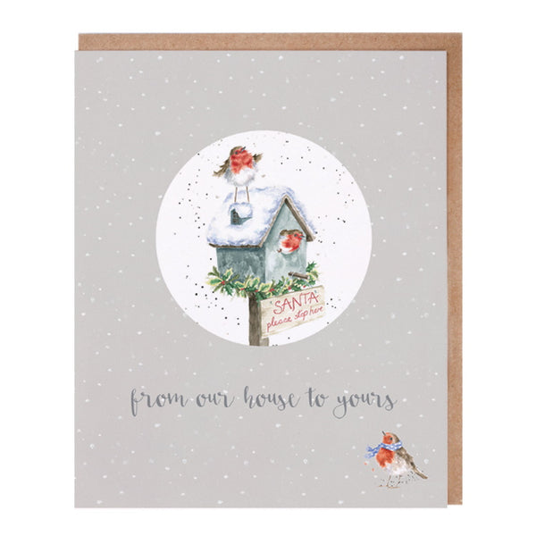 Wrendale Designs Relation Decoration Christmas Card - Our House To Yours