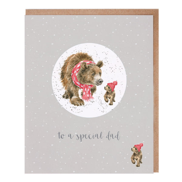 Wrendale Designs Relation Decoration Christmas Card - Special Dad