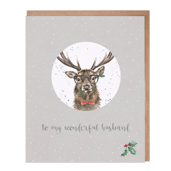 Wrendale Designs Relation Decoration Christmas Card - Wonderful Husband