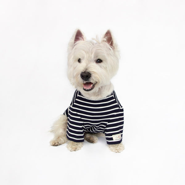Joules Harbour Dog Top - Navy Stripe
