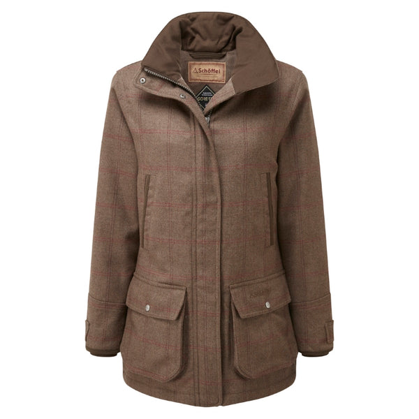 Schoffel Ladies Ptarmigan Tweed Coat - Sussex Tweed