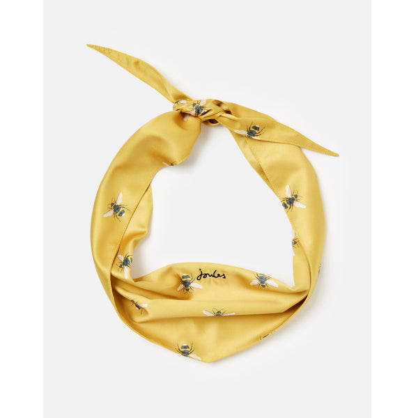 Joules Dog Neckerchief Collar - Gold Bee Print