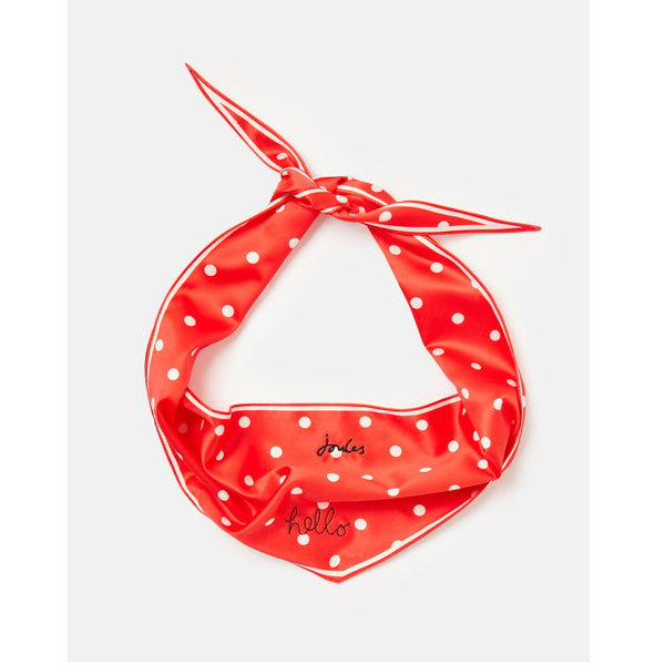 Joules Dog Neckerchief Collar - Red Hello Polka Dot