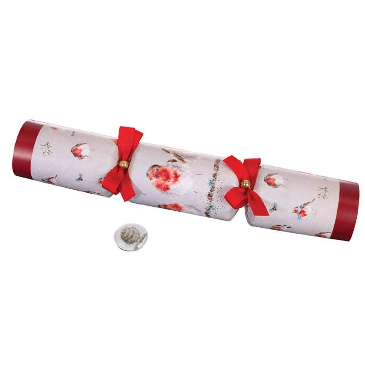 Wrendale Designs Luxury Christmas Crackers - Christmas Robin Design Set of 6