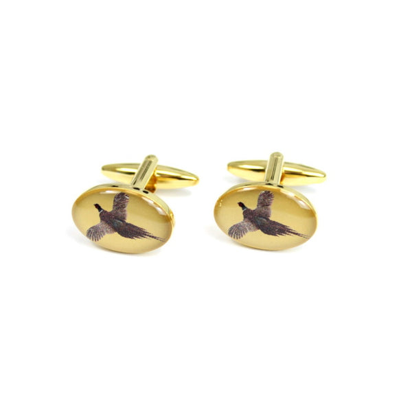John Norris Country Cufflinks - Flying Pheasant