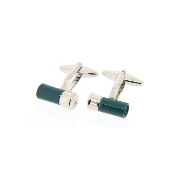 John Norris Country Cufflinks - Green Shotgun Cartridge