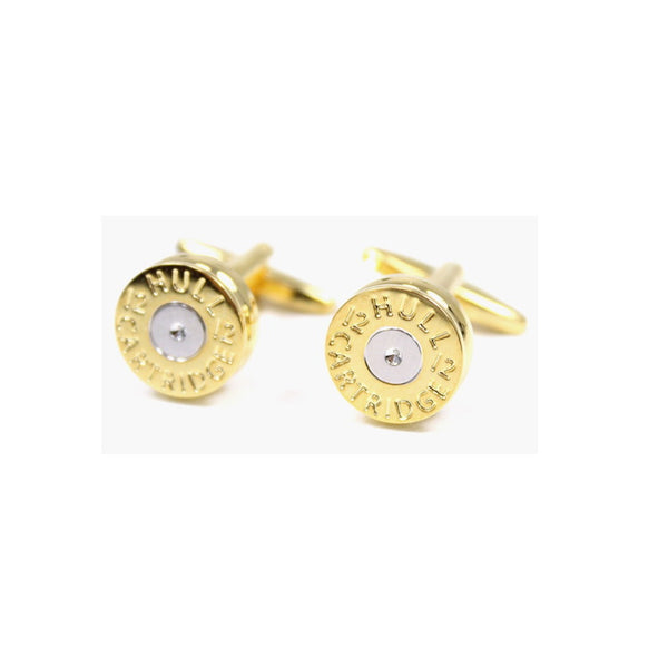 John Norris Country Cufflinks - Gold Shotgun