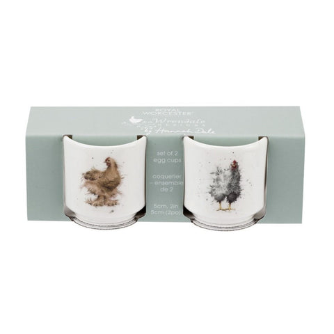 Royal Worcester Wrendale Designs Egg Cups Set of 2 - Chickens