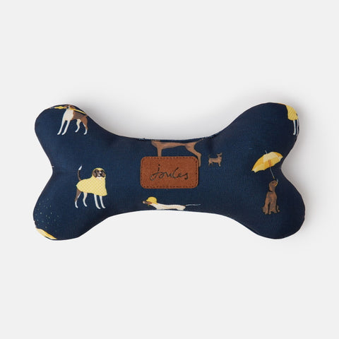 Joules Coastal Dog Print Bone Dog Toy