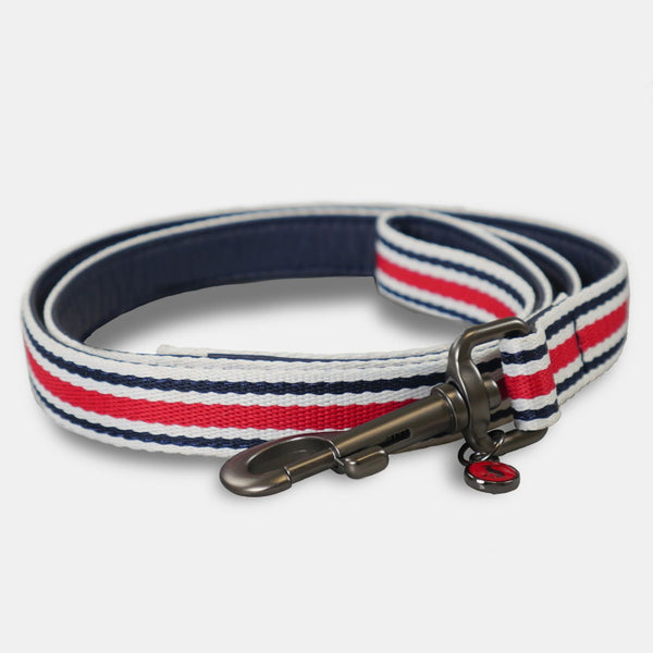 Joules Coastal Dog Lead - Red Stripe