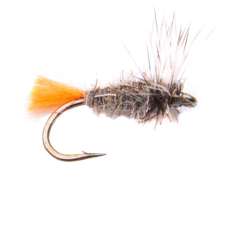Hares Ear Orange Tag Flies