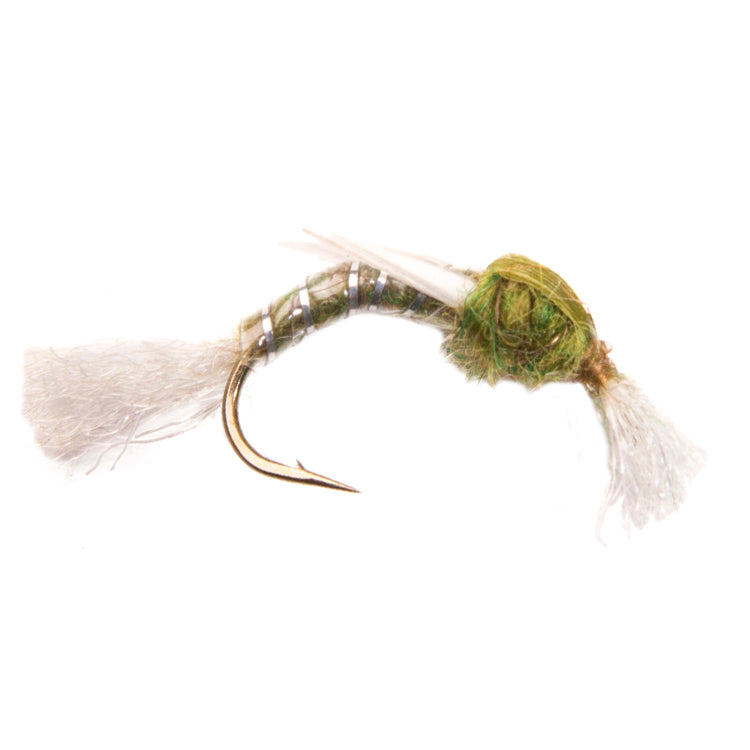 Dark Olive Polyrib Buzzers Flies
