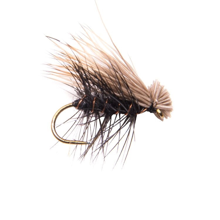 Elk Hair Caddis Black Flies