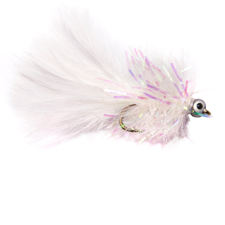 White Fritz Lead Head Flies