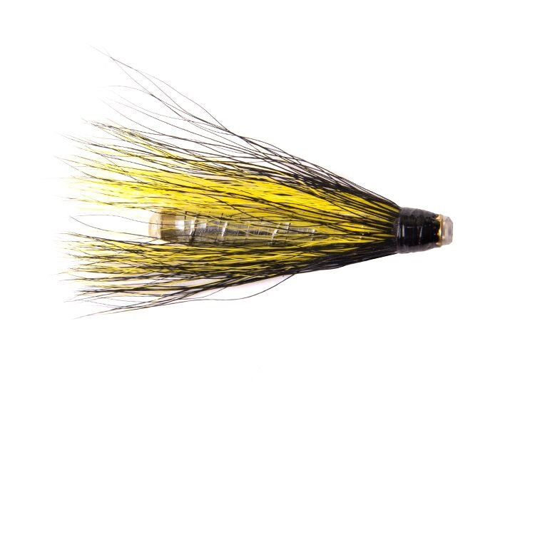 Black Yellow and Silver Copper Tube Flies