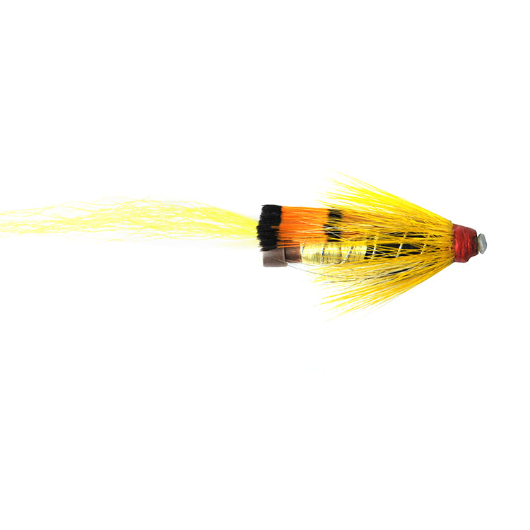 Yellow Allys Shrimp Brass Tube Flies