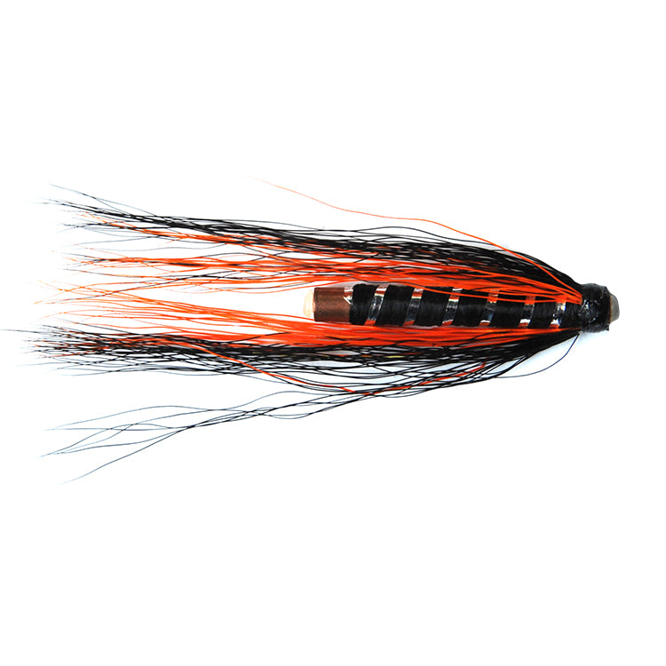 Black and Orange Brass Tube Flies