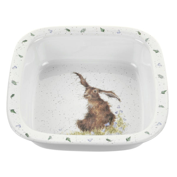 Royal Worcester Wrendale Designs Square Dish - Hare